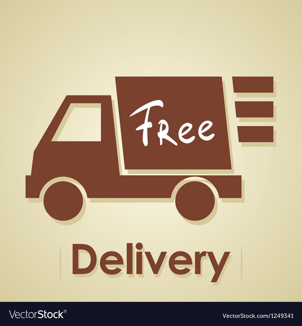 Truck free delivery vector image