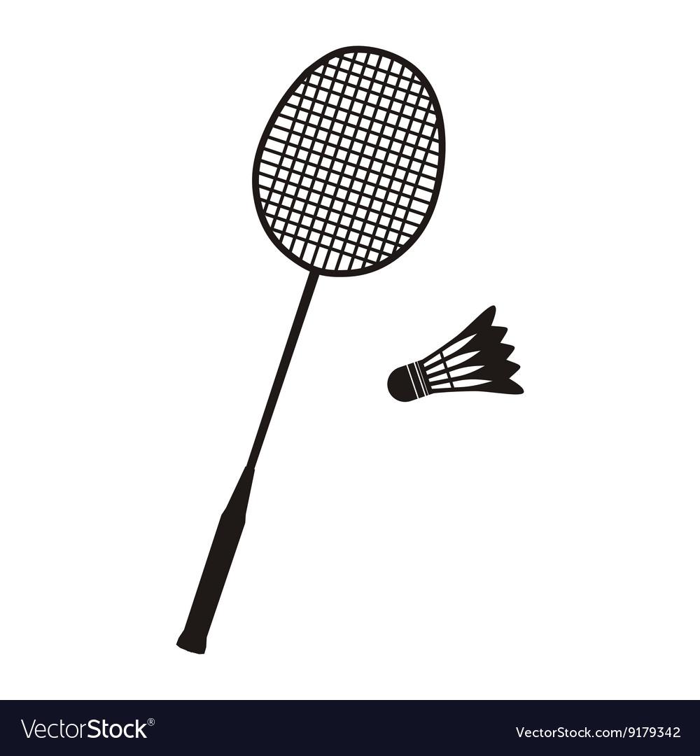 Badminton Racket and Shuttlecocks vector image