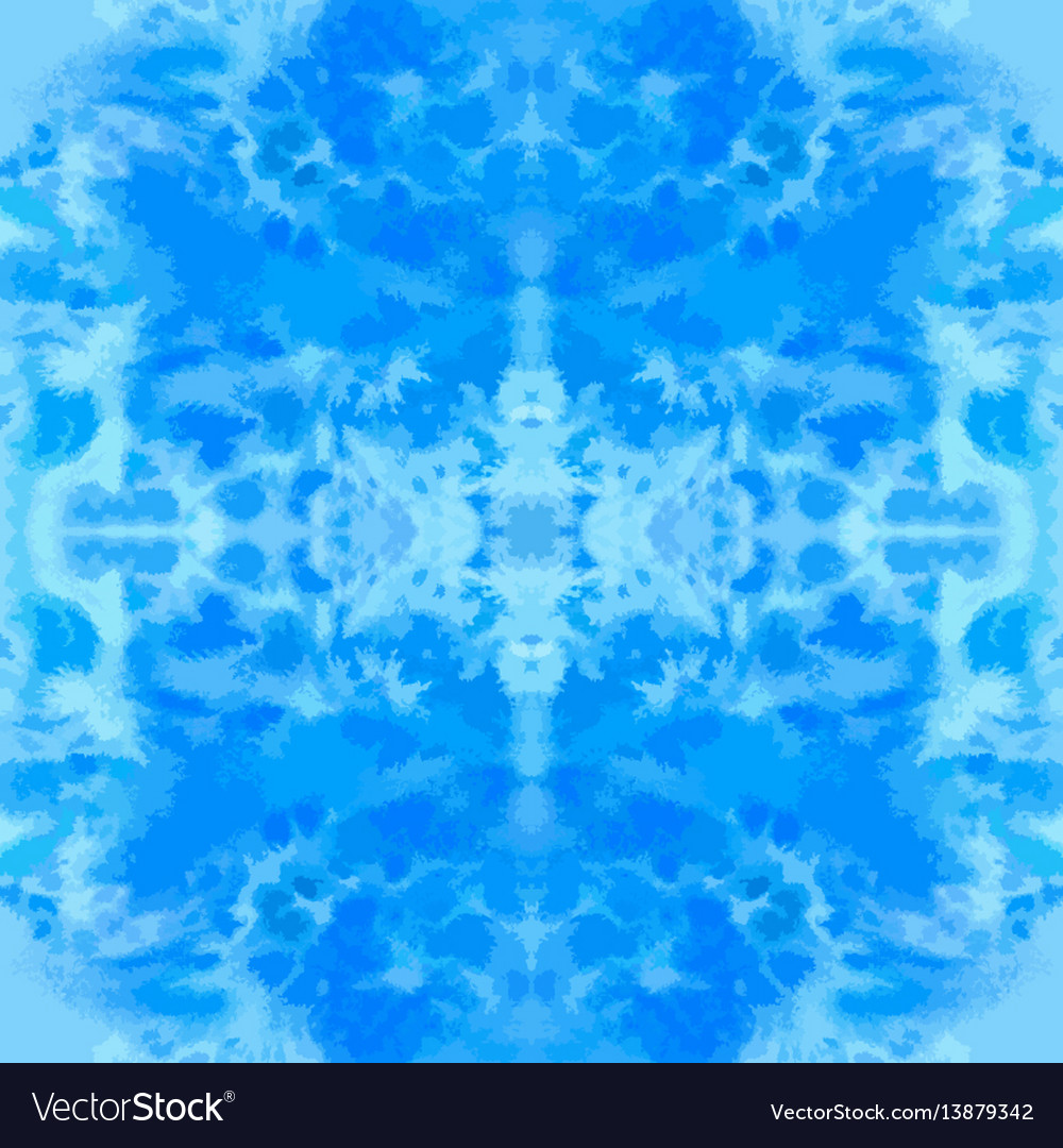 Blue watercolor hand-drawn seamless pattern vector image