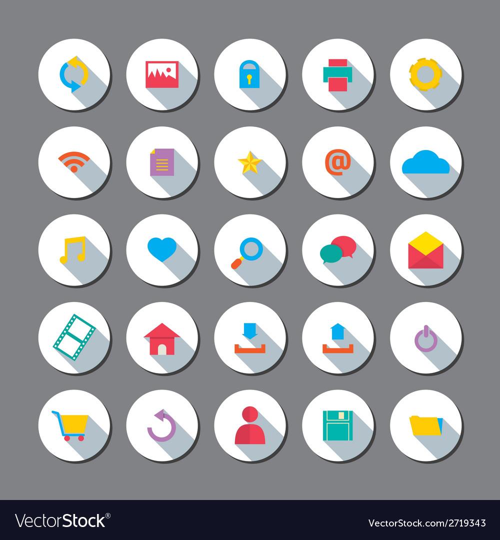 Modern Flat Design Website Icons Set vector image