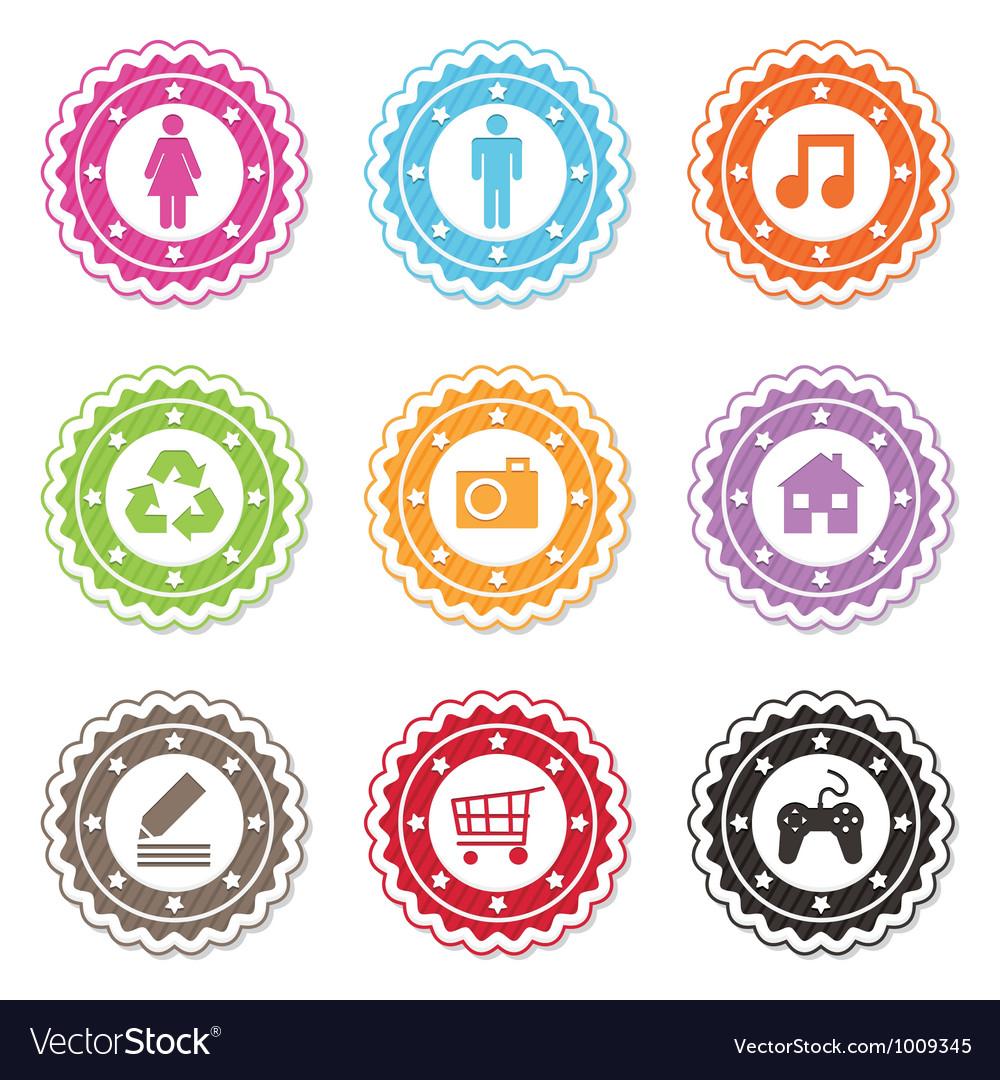 Web badges vector image