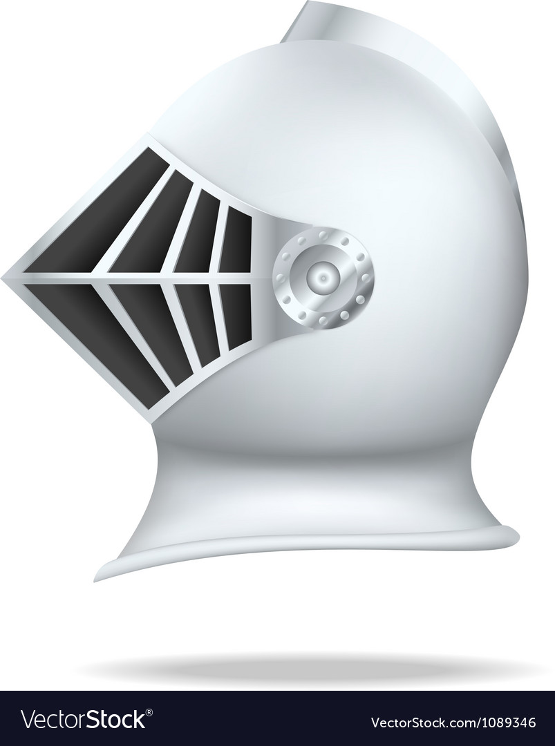 Medieval knight helmet vector image
