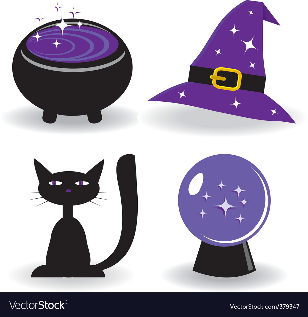 Magic icons Royalty Free Vector Image - VectorStock
