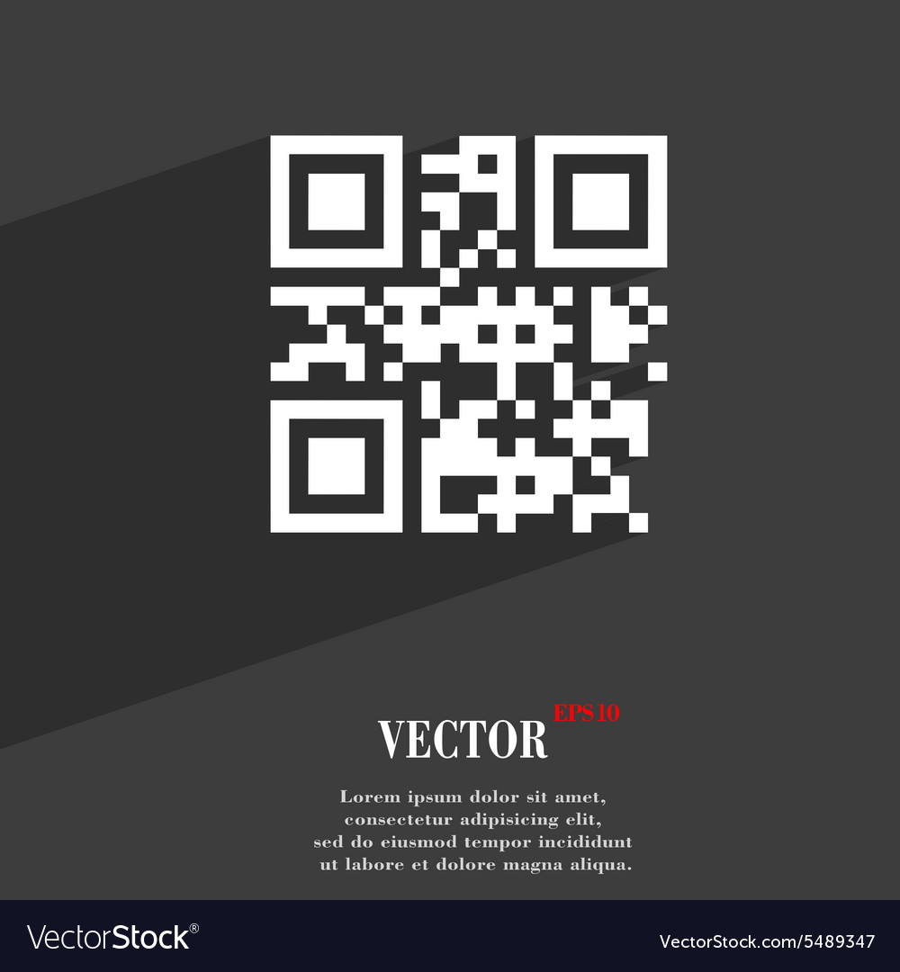 Poster design with qr code - Qr Code Icon Symbol Flat Modern Web Design With Vector Image
