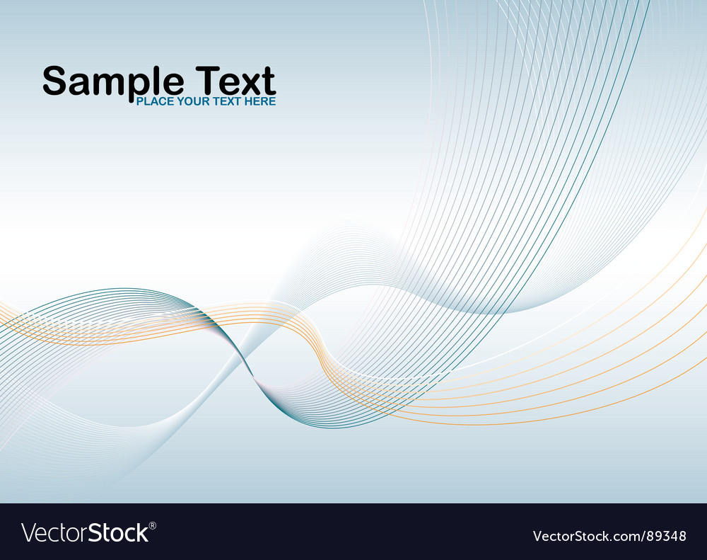 Wave stroke vector image