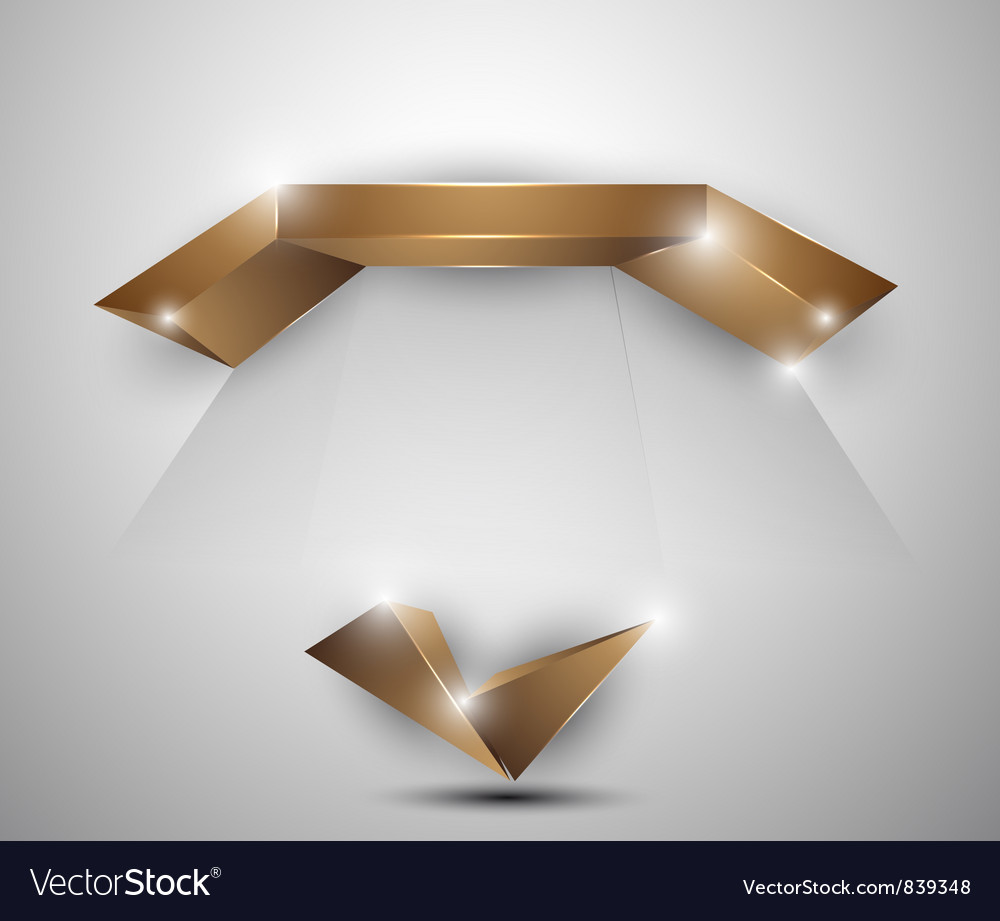Abstract background - 3d figures vector image