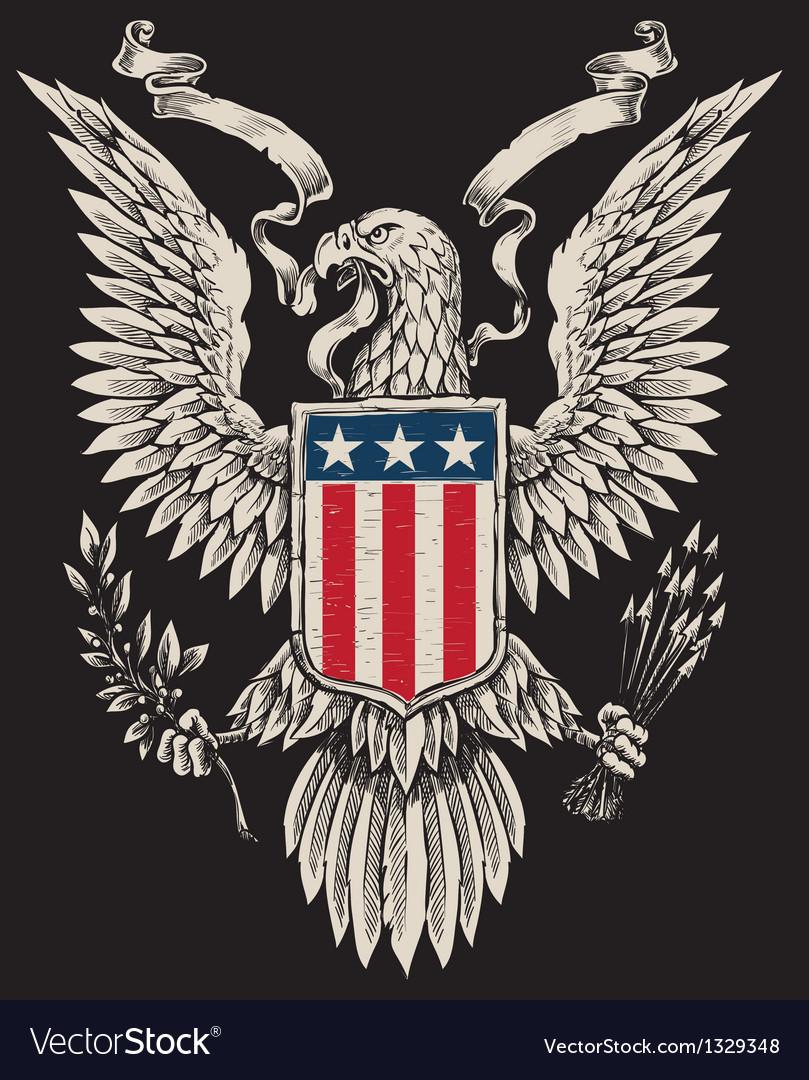 American eagle linework royalty free vector image american eagle linework vector image biocorpaavc Gallery