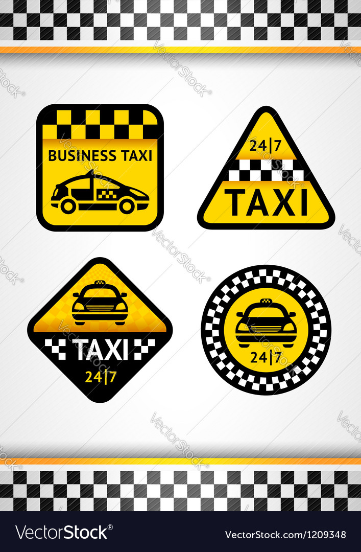 Racing Background vertical and Taxi - set retro vector image