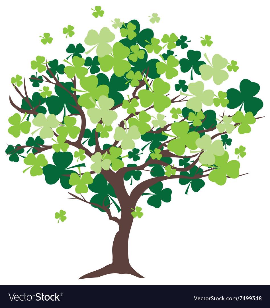 shamrock tree royalty free vector image vectorstock