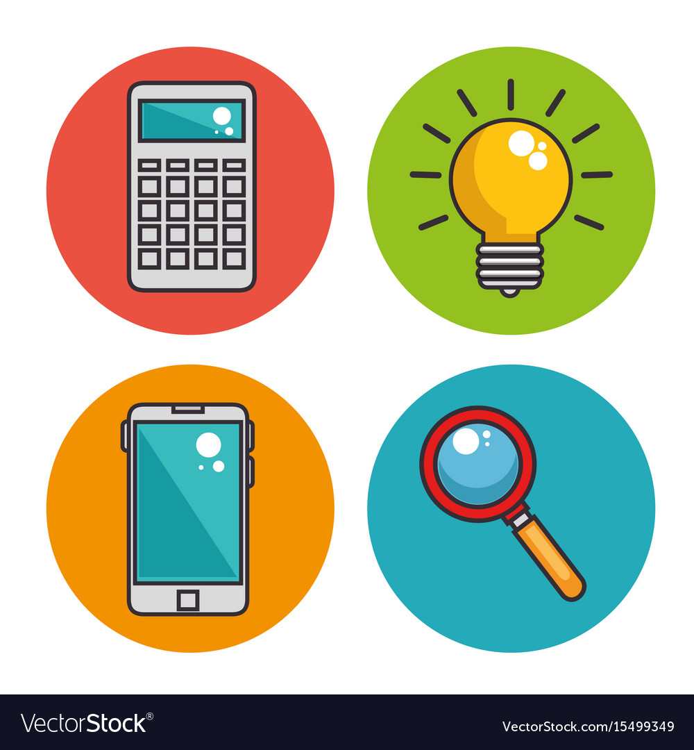 Business icons design vector image