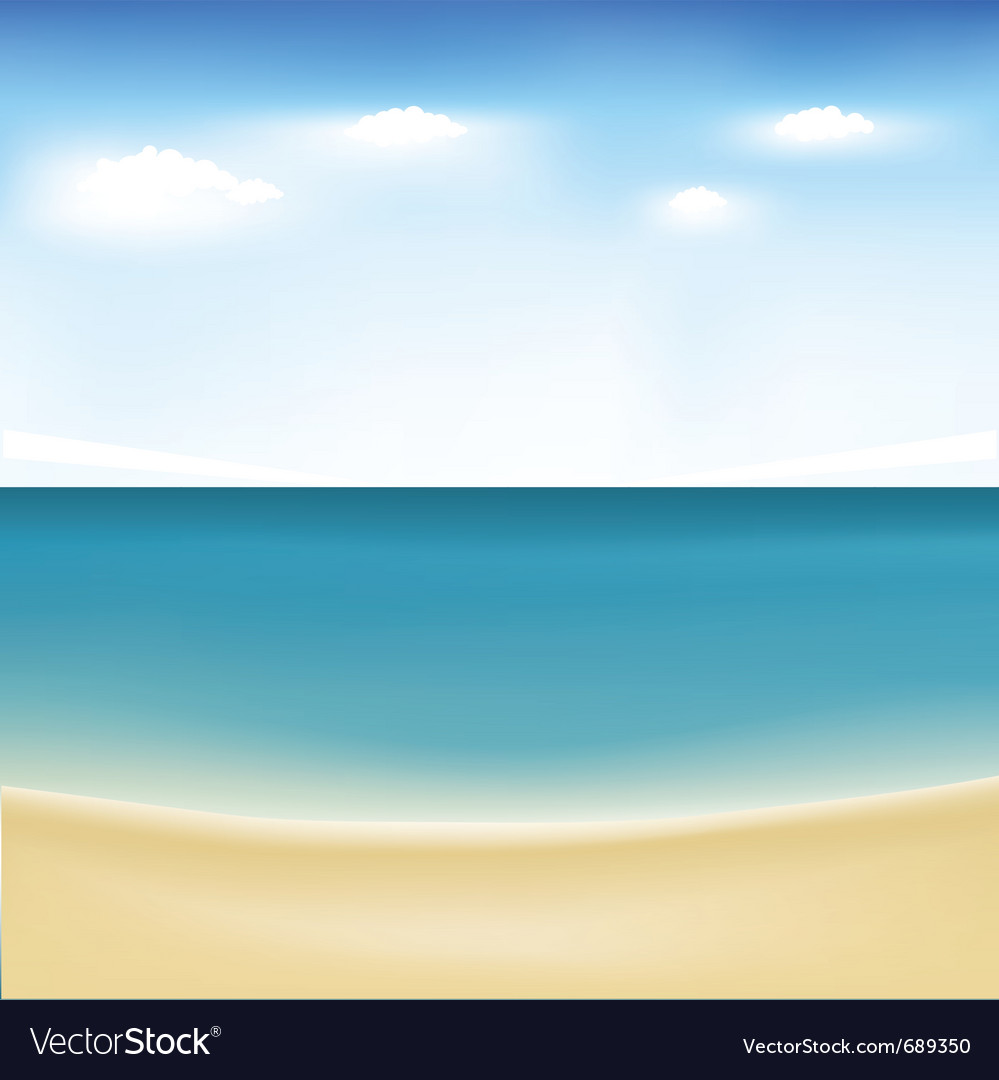 Summertime at beach Vector Image