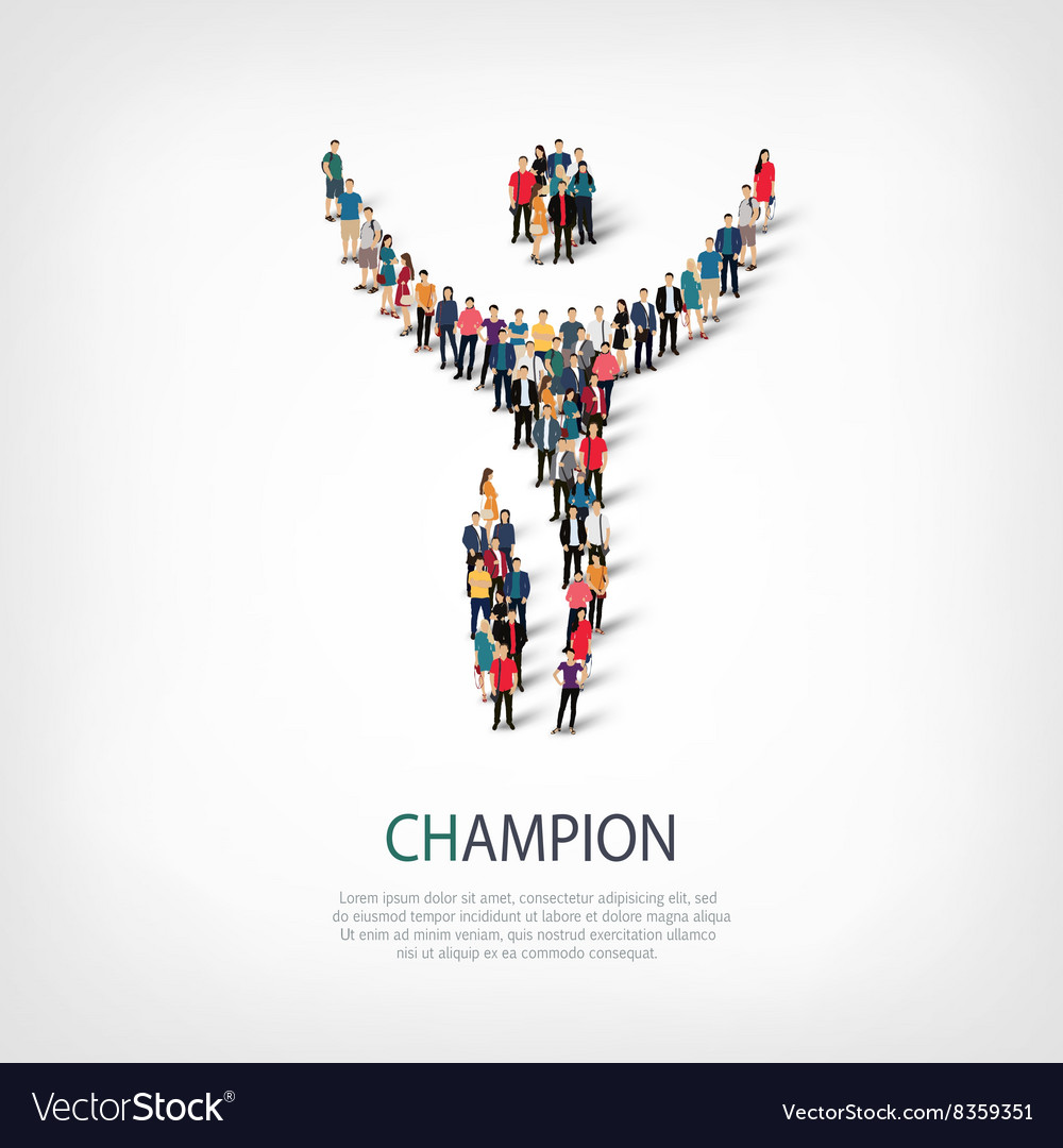 Champion people sign vector image