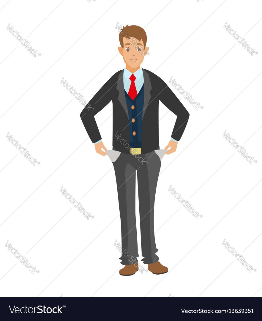 No money flat vector image