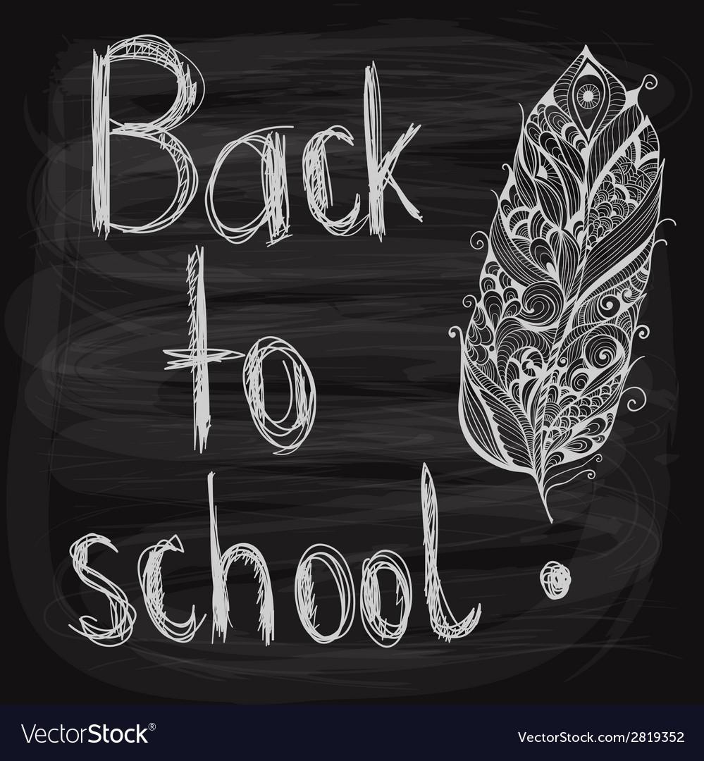 Chalk drawn background vector image