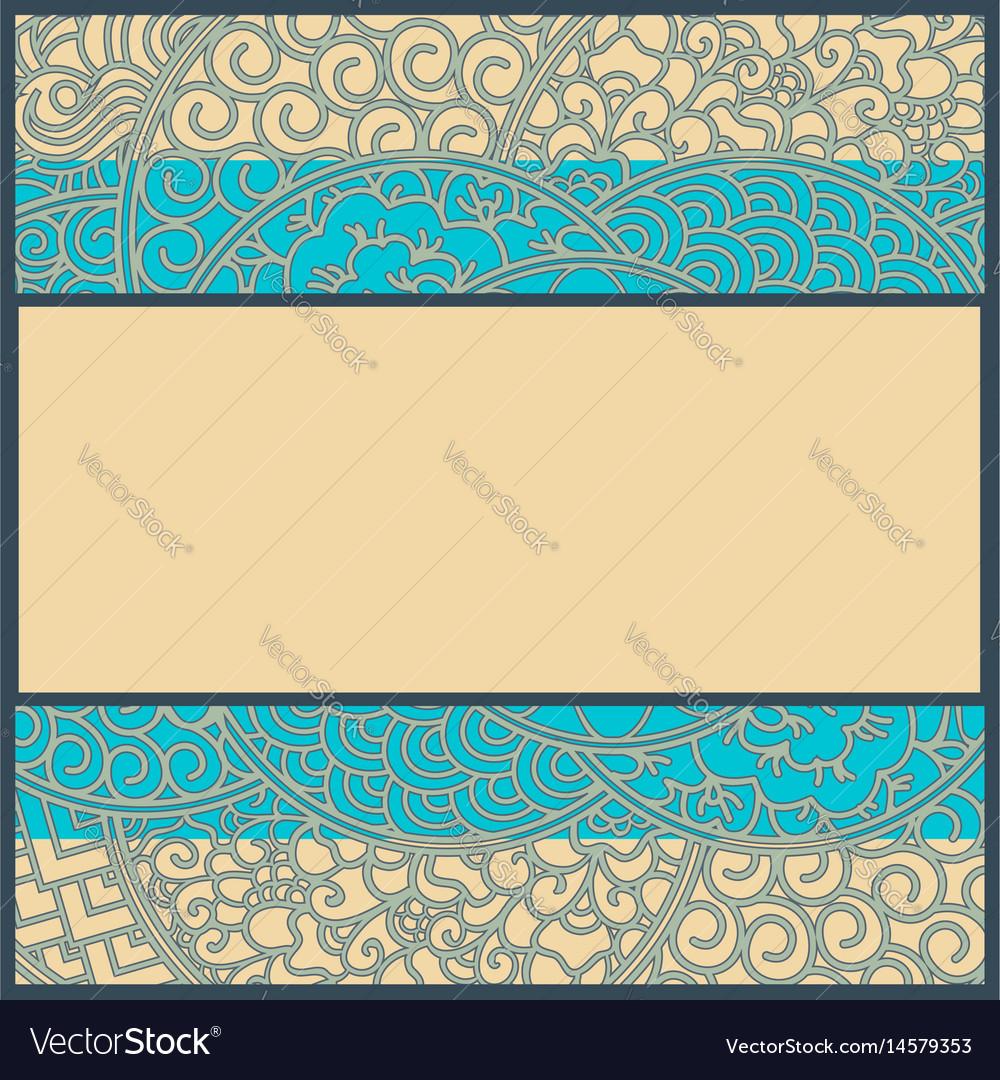 Art-nouveau card or frame vector image