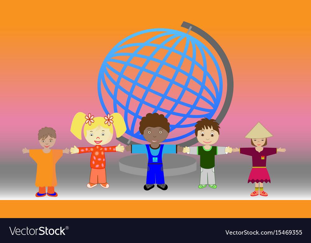 Children of the world vector image