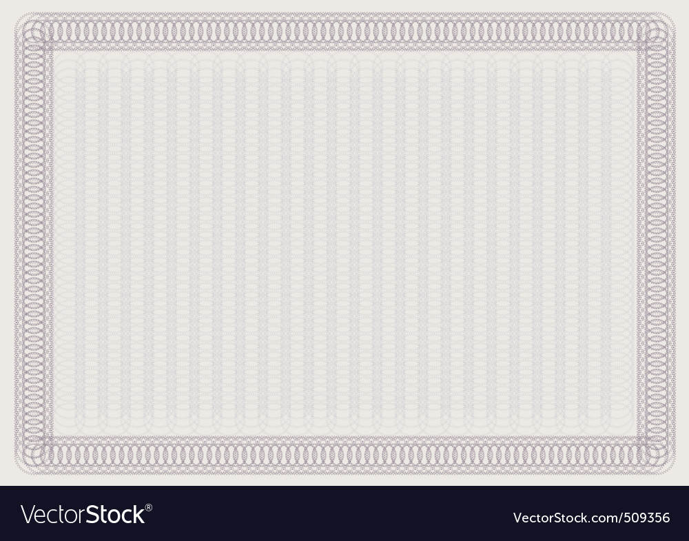 Blank certificate template vector image