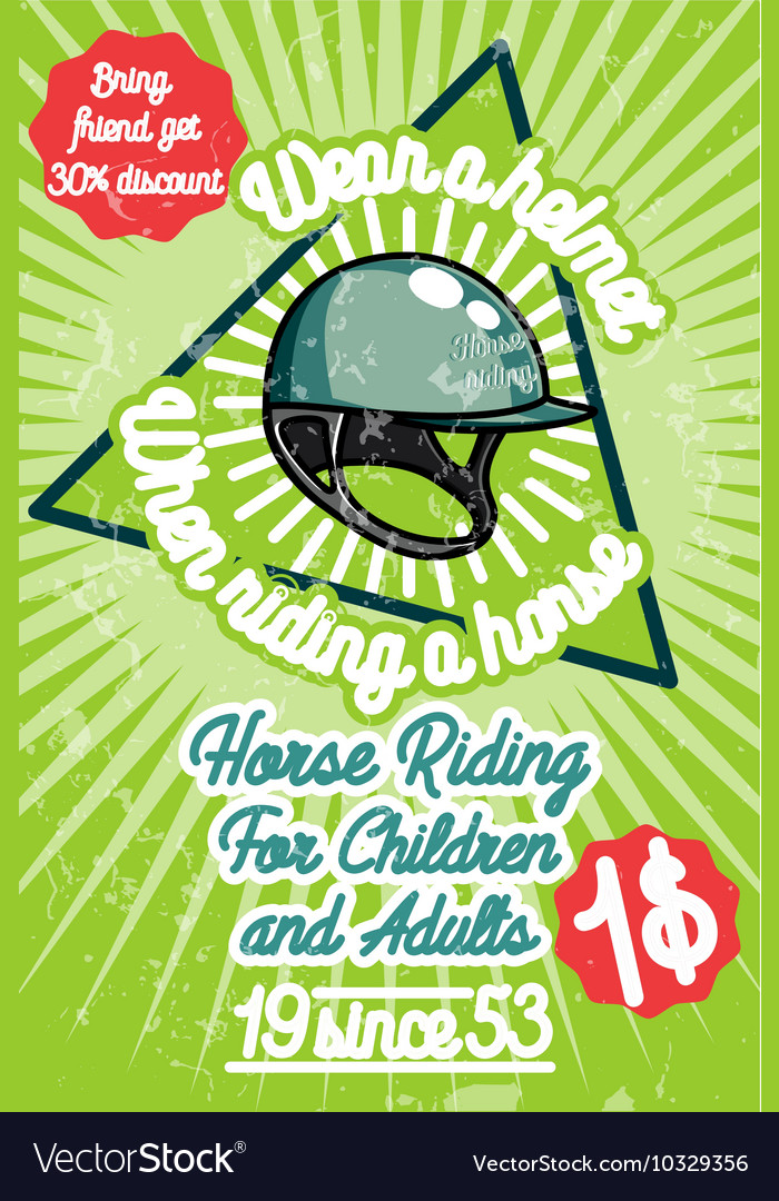 Horse riding banner vector image