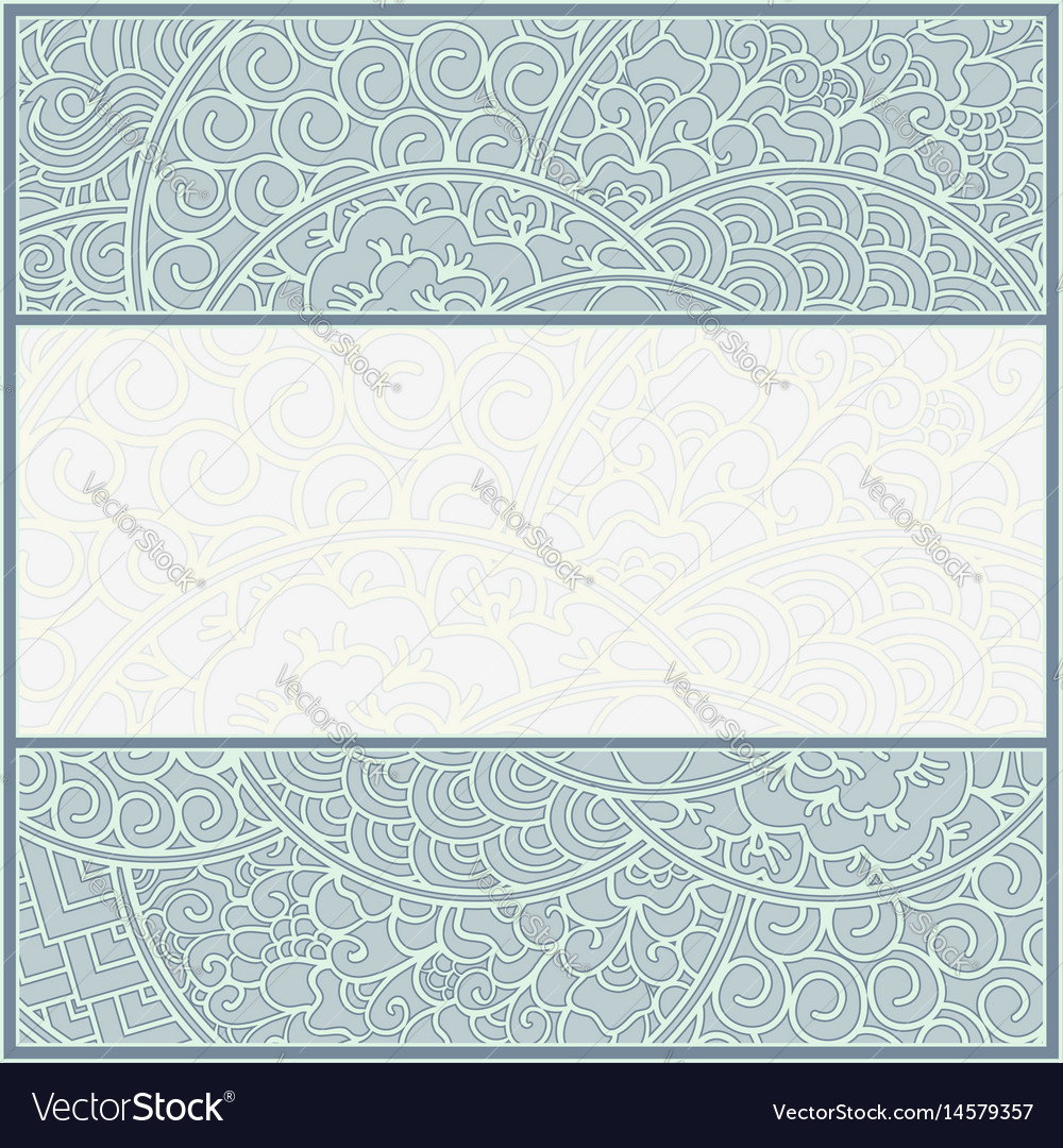 Card or frame template art-nouveau style vector image