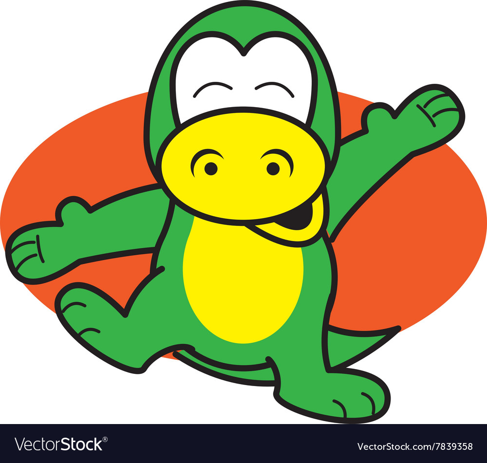 Dinosaur Happy vector image