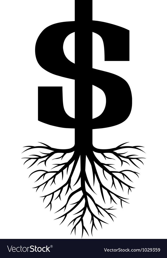Growing Dollars vector image