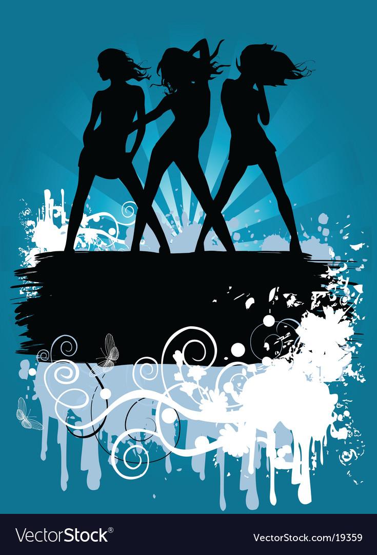 Dancing girls Vector Image