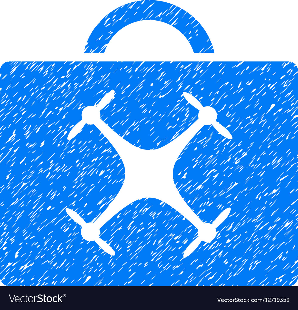 Drone Toolbox Grainy Texture Icon vector image