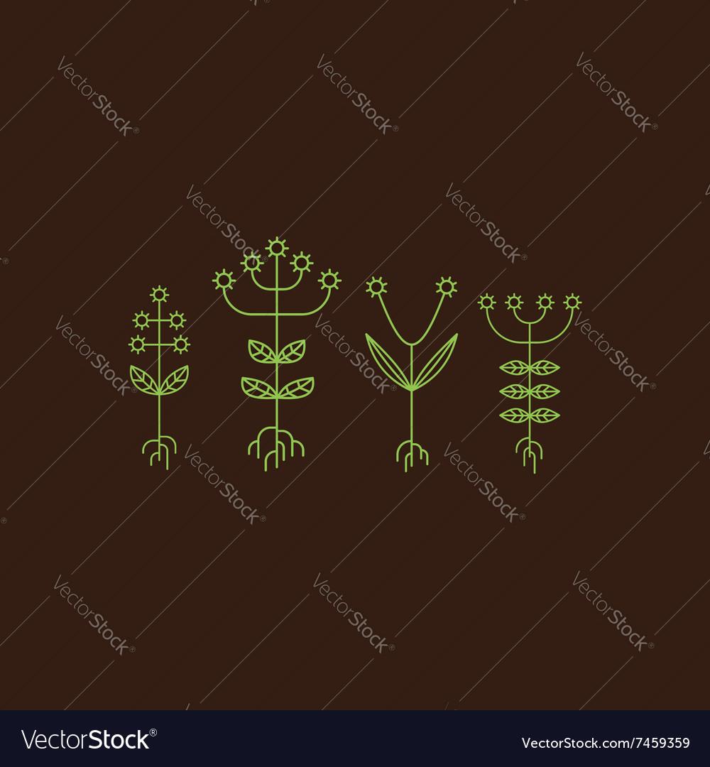 Flora Elements Eco Sign vector image