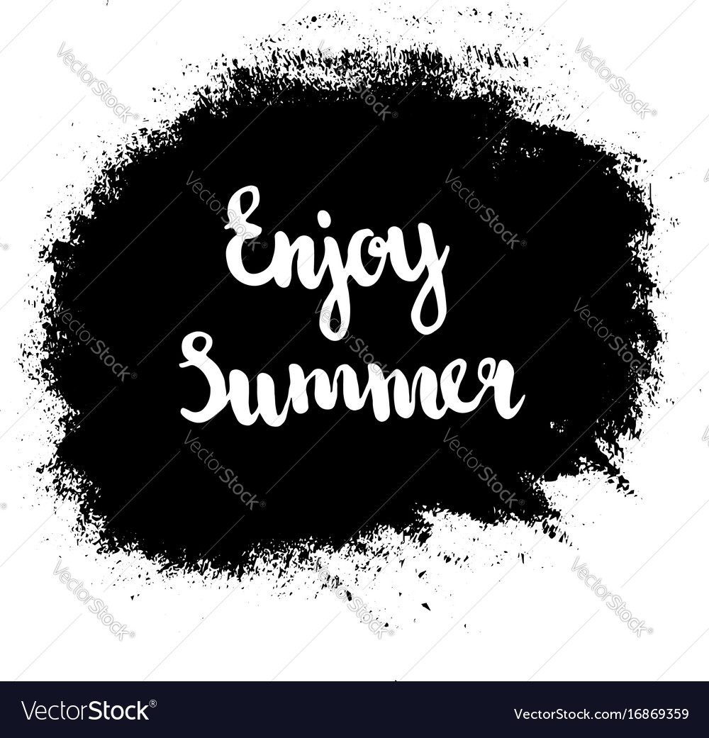 Grunge enjoy summer vector image