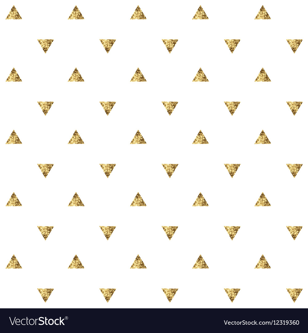 Seamless pattern with golden triangles vector image