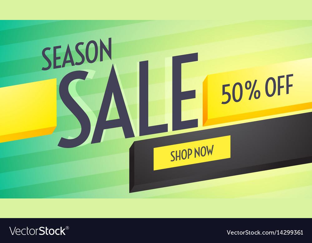 Season sale discount voucher design with Vector Image – Discount Voucher Design