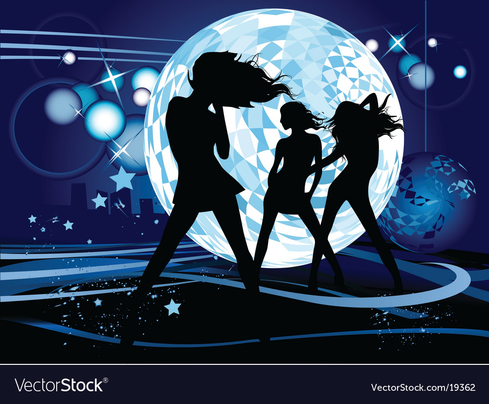 Dancing design vector image