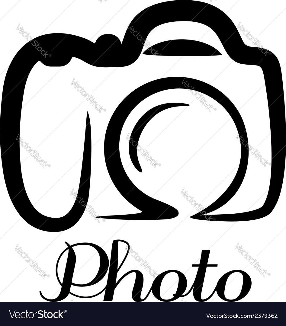 Photo camera emblem vector image