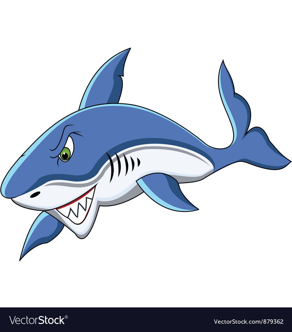 shark cartoon royalty free vector image vectorstock