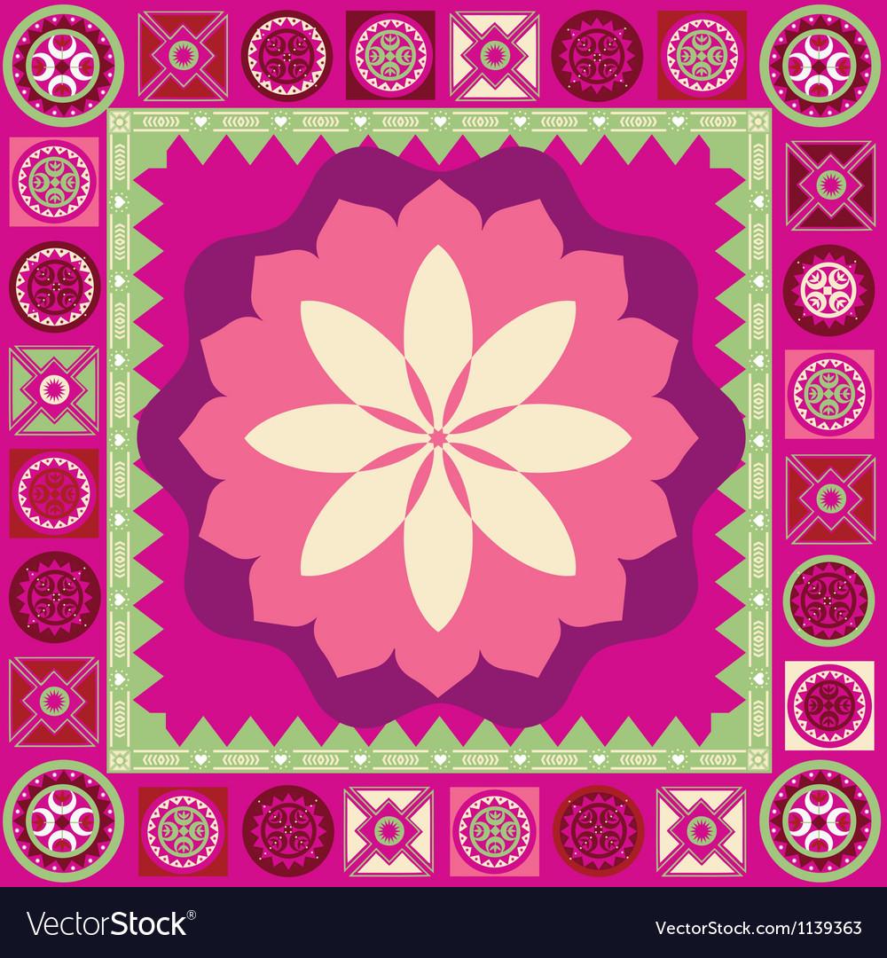 Ornamental floral spring poster vector image