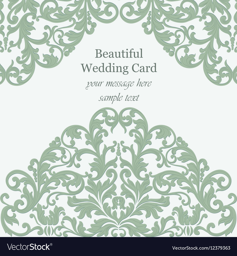Wedding Invitation card Imperial style vector image