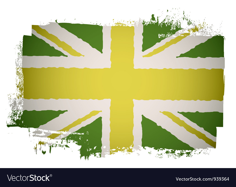 Green british flag vector image