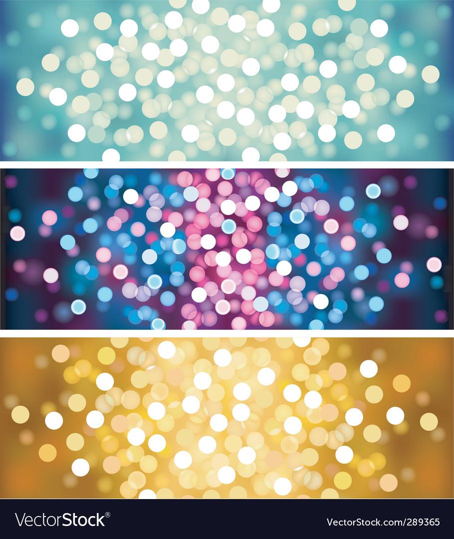Defocused lights vector image