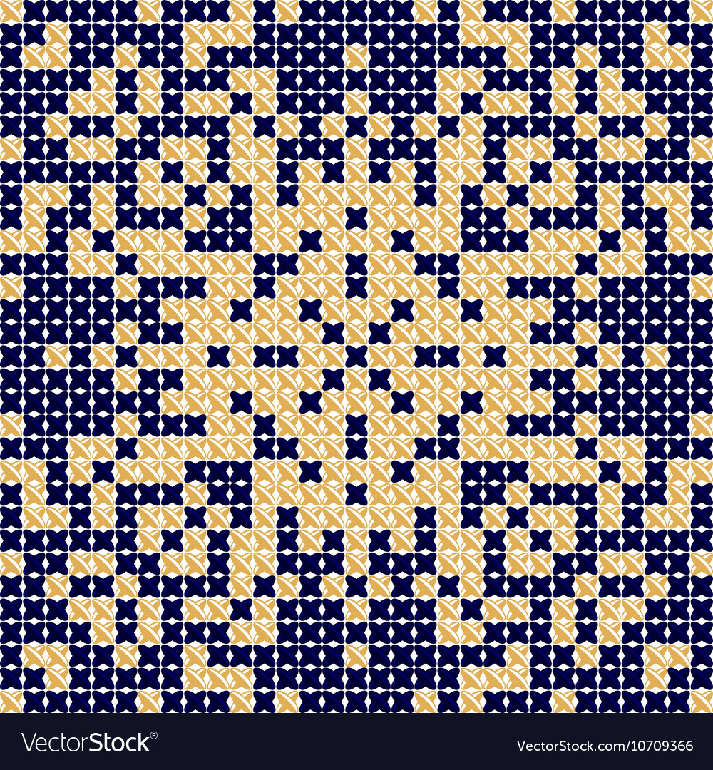 Cross stitch pattern Antique Scandinavian style vector image