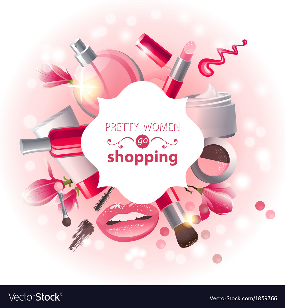 Make-up background vector image