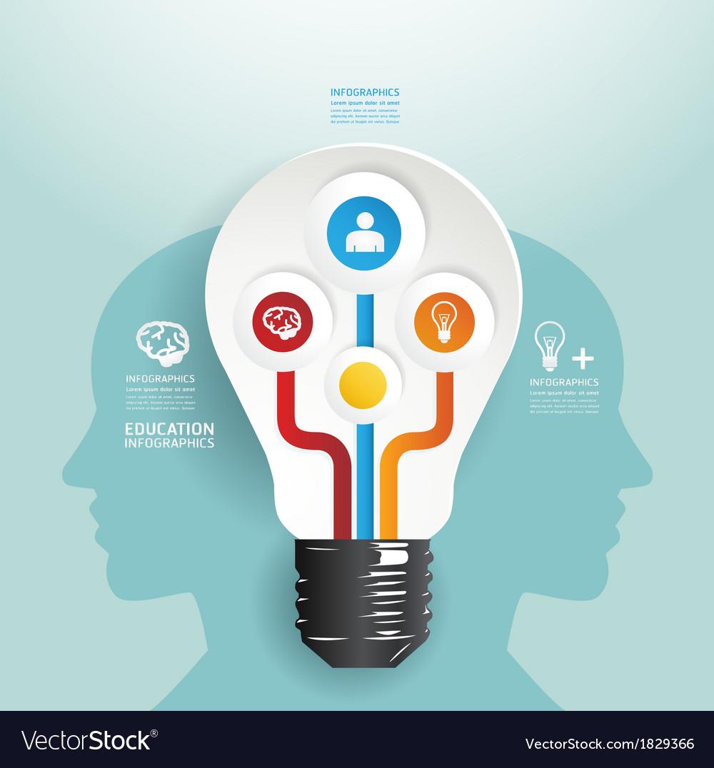 Modern Design light bulb style infographic templet vector image