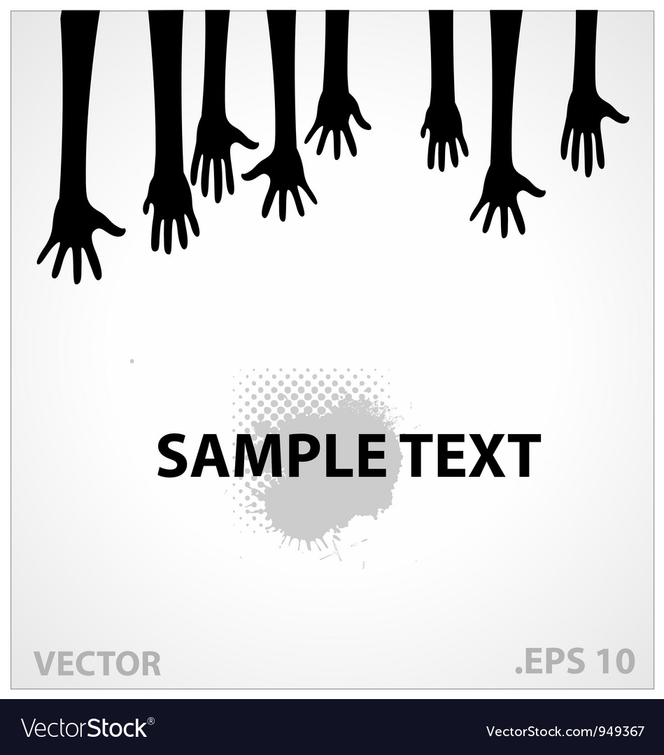 Hands sign black color vector image