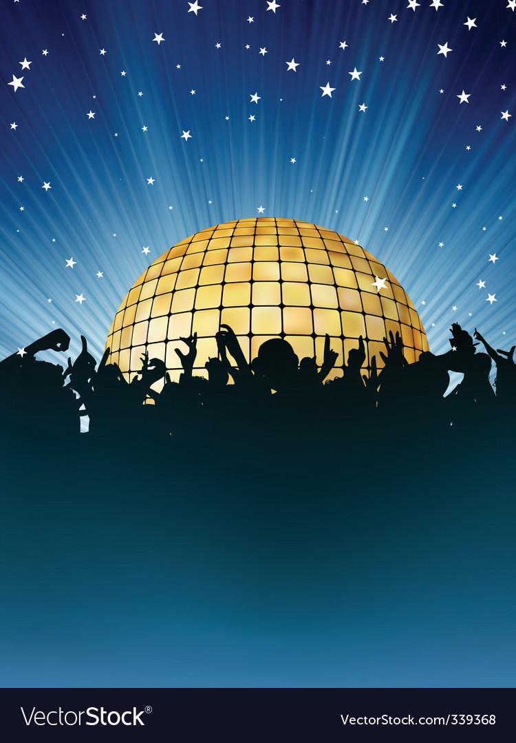 Dance crowd vector image