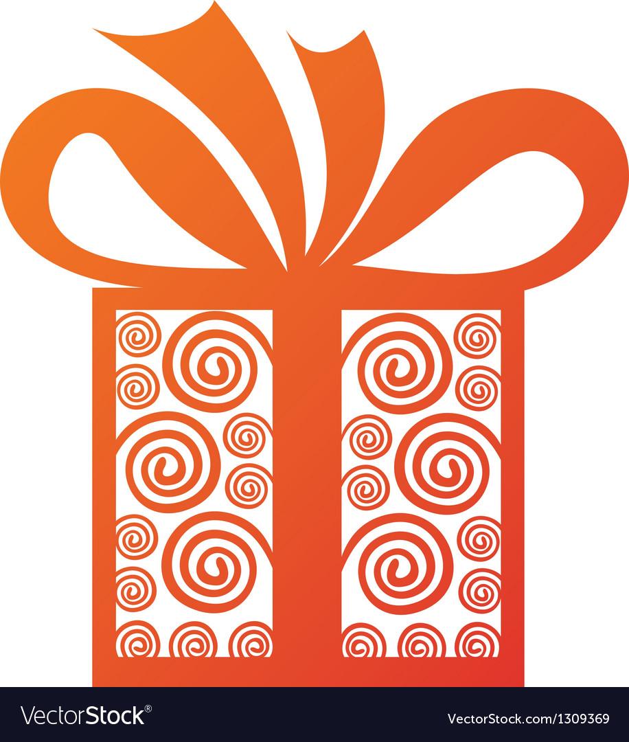 Gift present vector image