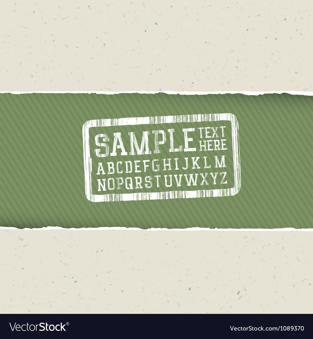 Ecology template torn paper vector image