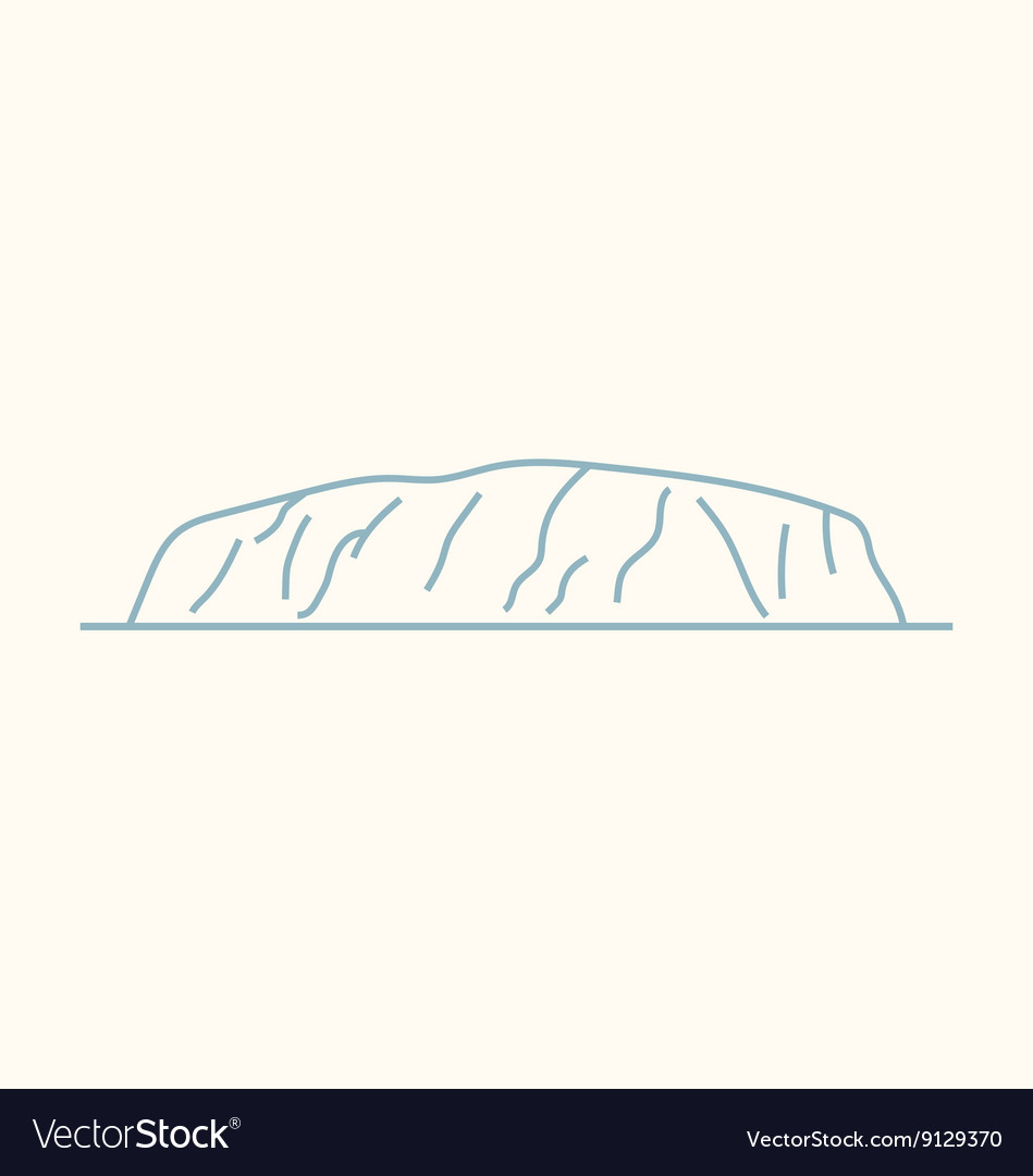 Ayers Rock vector image