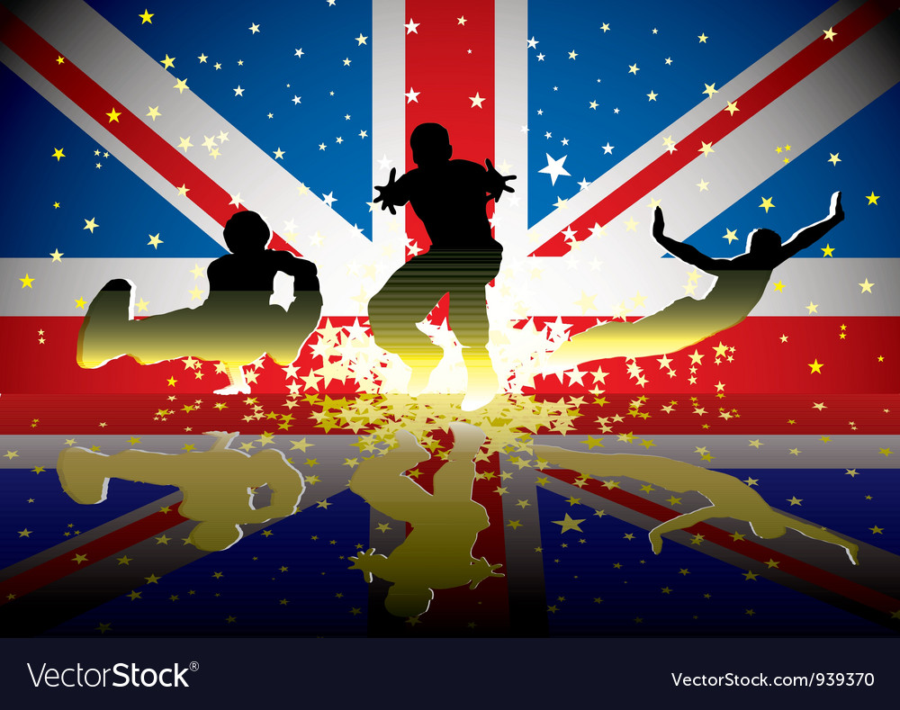 british flag sports figures royalty free vector image