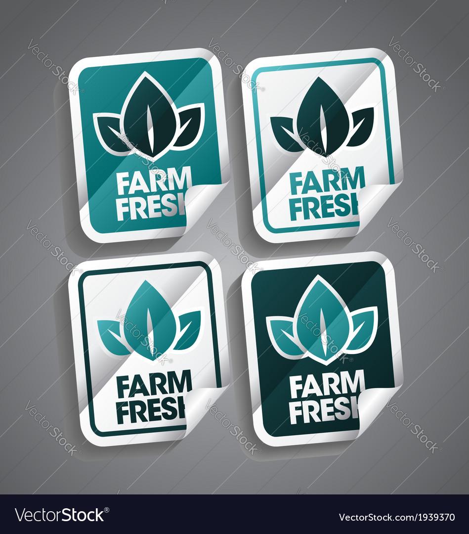 Farm Fresh Sticker vector image