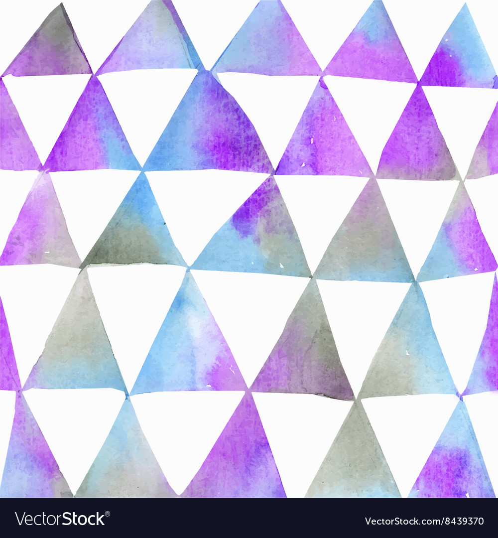 Seamless watercolor pattern with triangles vector image