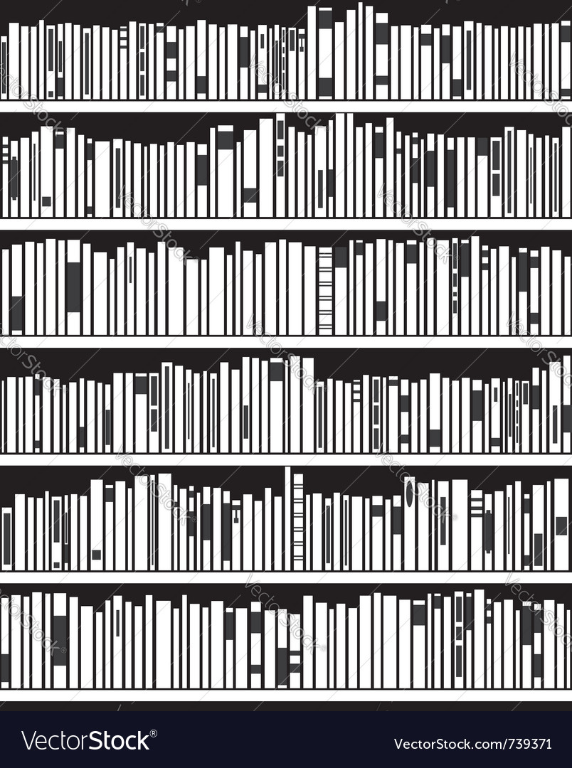 Abstract modern bookshelf vector image